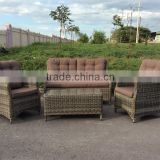 LATEST MODEL POLY RATTAN SOFA OUTDOOR/ SOFA (2 CHAIRS+1 BENCH+1 TABLE+ CUSHION SET)/ WICKER SOFA SET/