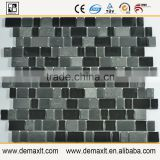 Decoration Normal two color crystal glass mix marble mosaic tile for bar wall