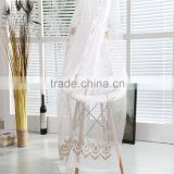 Traditional hanging embroidered sheer voile curtain fabric for living room