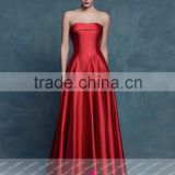 GQ9 strapless sweetheart A-line sexy backless floor length red vestido de festa evening dress 2015