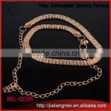 Hot Wholesale Belly Chain Gold Plated Waist Chain Belts For Women