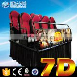 Popular 7d equipment cinema home theater 4 seats 9d simulator machine