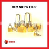 Factory Supply copper padlock/ brass padlock/thin,thick,medium thick/Long Shackle padlock