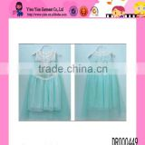 Factory Direct Double Lace Printed Dress Girls Favorite Sequined Casual Frozen Elsa Dress Wholesale