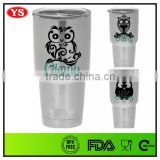 30 Ounce Customized color and logo double wall stainless steel tumblers wholesale with lid