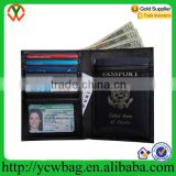 RFID blocking passport cover leather travel wallet men purse