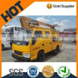 Overhead working truck with XCMG crane for sale