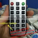 Mini thin 1-21 Keys MP3 PLAYER Waterproof Remote Control with rubber Keys with CR2025/CR2032 Button Battery