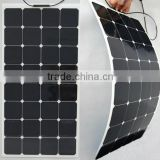 100W flexible monocrystalline solar panel High transfer efficiency sun power flexible solar panel