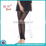 2015 Chinese black glossy sheer tube stirrup pantyhose