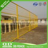 welded wire tempory fence panels retractable temporary mesh fencing yellow portable construction fence
