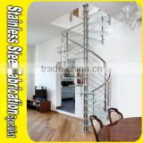 Aluminum Handrails Integral Sell Small Glass Spiral Staircase