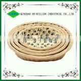 Decorative wicker cat basket set or cat bed