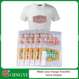 QingYi wholesale soft heat transfer printing for clothing