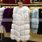 2017 Real Women Winter Fur Vest Fur Coat Natural Fox Fur --pc252