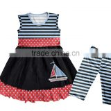 wholesale baby girls mustard pie clothing sets with ruffle