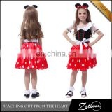 2015 Newest Design Halloween Cute Mickey Princess Costume Baby Girl Summer Dress