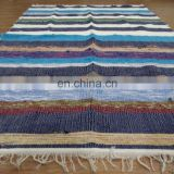Rug Rag Chindi Rug Dari Cotton Hand Woven Multicolor Carpet