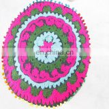 Bohemian Indian Suzani Round Cushion Cover Cotton Floor Cushion Cover