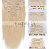 New arrival full head hair extension clips wholesale