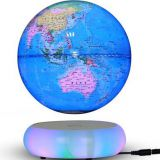led light ceramic magnetic floating levitate bottom globe 6inch 7inch 8 inch