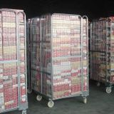 Warehouse portalble metal storage trolleys with wheels