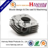 china manufacturer customize sand blasting auto radiator motorcycle heatsink aluminum die casting