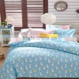 Blue cat print sheets animal pattern cotton kids quilt set 4 pcs queen size children bedding set