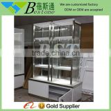 Custom metal glass perfume display cabinet for shops
