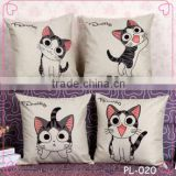 2015 China factory direct supply new design 100% cotton super soft high quality lovely the cat pillow