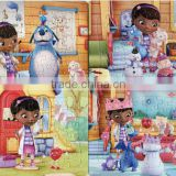 wholesale children Doc Mcstuffins Cardboard Puzzle jigsaw puzzle Intelligence cartoon games puzzle Toys best gifts for kids