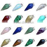 Rock Crystal Healing Point Pendant Bead For Necklace