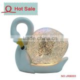 Animal decoration gift LED Polyresin Mosaic Swan Light