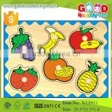 most popular educational preschool puzzle game wooden fruit puzzle for kids