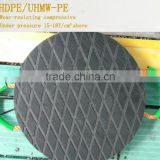 Heavy loading crane pads / UHMW plastic crane footpad with holder/ plastic ultra cushion pads