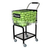 Steel protable tennis ball teaching cart (holds 350Balls) with four wheels