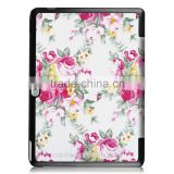 Lady use flower pattern Leather Stand case for Huawei MediaPad M2 10.0 match with pc cover