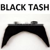 70s 1970s Fancy Dress Tash Self Adhesive fake Moustache Cowboy Mexican Black 1stClass MU064