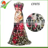Culture Print collection african print chiffon fabric 100% Polyester Woven Fabric For Skirt or dress