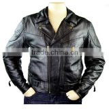 Golden Buttons Motorcycle Men Leather Custom Man Jackets