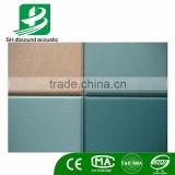 Soundproof fabric acoustic panel sound absorbing fiber glass wool for interior wall decoration