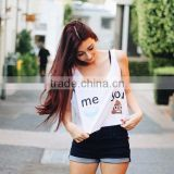 Fitted High Quality New Style high quality ready stock fashion young girl stringer tank top