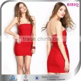 Ladies Summer Wholesale Red Bandage Club Dresses