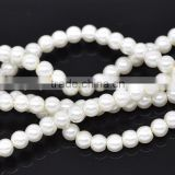 the Newest black white glass teardrop pearl,synthetic round loose pearls,white glass teardrop pearl
