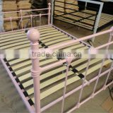 steel/metal double bed furniture with wooden base for home .morden queen bedroom furniture,S-03