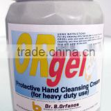 ORGEL Abrasion cleaner for hard surfaces and skin peeling agent.