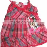lovely ruffle dresses girls plaid halter dress baby toddler girl dresses