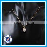 Real zircon crystal 24k saudi gold jewelry meaningful pendant natural gemstone necklace