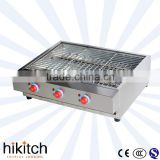 Commercial Stainless Steel Countertop Smokeless Electric Barbecue Grill with Thermometer