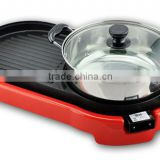 Home Applicances Die-Cast Multifunctional Electric grill with steam pot